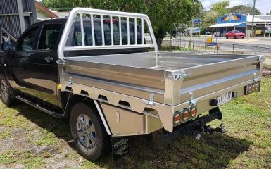 Standard alloy tray with undertray toolbox and headboard upgrade